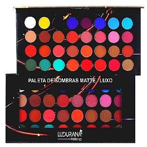 Ludurana - Paleta de Sombras Matet Luxo 32 Cores M00040 - Kit com 4 Unidades