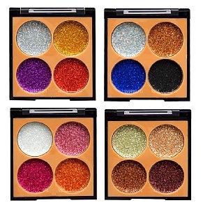 Paleta de Glitter 4 Tons Vivai 4027 - Kit com 4 Unidades ( 1 de cada )