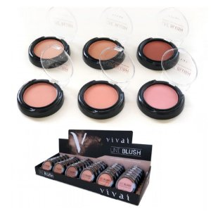 Blush Facial Compacto Uni Blush Vivai 1032 - Display com 36 unidades