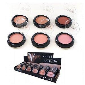 Vivai - Blush Facial Compacto Uni Blush 1032 - Display com 36 unidades