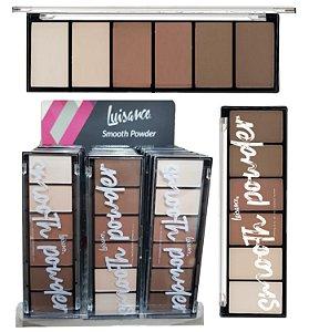 Paleta de Po de Contorno Smooth Luisance Facial L3120 - Display com 24 Unidades