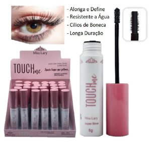 Rimel Mascara de Cilios Alonga e Define Touch Miss Lary ML569 - Display com 24 unidades