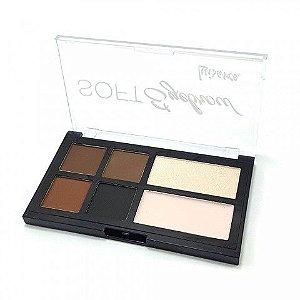 Paleta de Sombras para Sobrancelhas Soft Eyebrow Luisance L969 - 4 Unid
