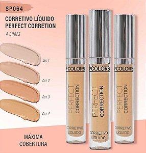 Corretivo Líquido Perfect Correction SP Colors SP064 – Kit C/ 4 unid