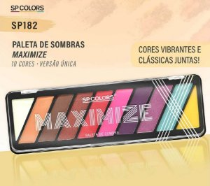 Paleta de Sombras Maximize SP Colors SP182 - Display C/ 12 unid