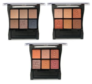 Paleta de Sombras Basic Nude City Girl CG154 - Kit C/ 3 unid ( A, B, C )