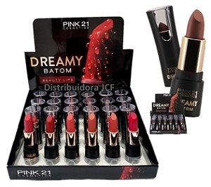 Batom Dreamy Pink 21 CS2316-A - DIsplay C/ 24 unid e Prov
