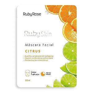 Máscara Facial Citrus Revitalização Instantânea Ruby Rose HB711