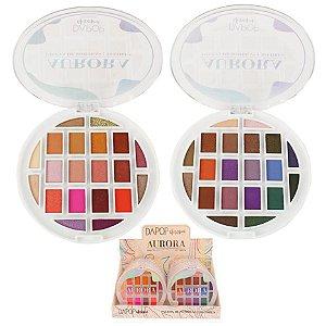 Estojo de Sombras Aurora 20 Cores Dapop HB98335 - DIsplay C/12 unid