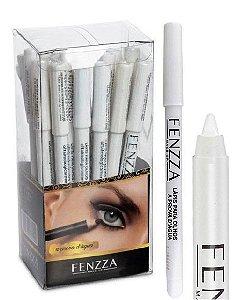 Lápis Delineador  Branco para Olhos a Prova D'água Fenzza FZ14004 - Display C/24 Unid