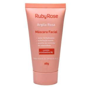 Mascara Facial Argila Rosa Ruby Rose HB404 - Kit C/6 Unid