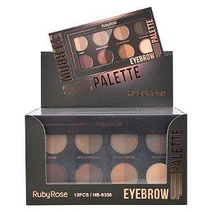 Paleta Ruby Rose Eyebrown UP HB9356 - Display C/12 Unid