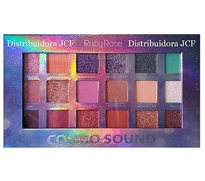 Paleta de Sombras Cosmo Sound Ruby Rose HB1060 - Display C/12 Unid