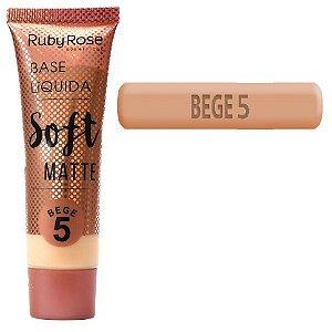 Ruby Rose - Base Soft Matte Bege 5  - Unitario