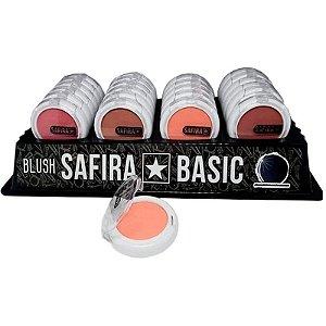 Blush Compacto Safira Linha Basic -  Box c/24uni