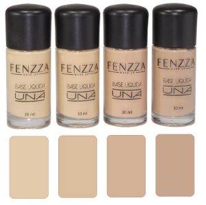 Base Líquida Matte Una Fenzza BE07 - Kit C/4 Unidades​