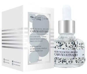 Novo Serum Facial Beads Carvão Ativado Max Love - Display C/ 20 unid e Prov