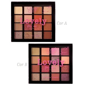 Paleta de Sombras Lovely City Girl CG165 - Display C/ 12 Unid