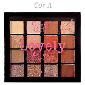 City Girls - Paleta de Sombras Lovely CG165 - Cor A
