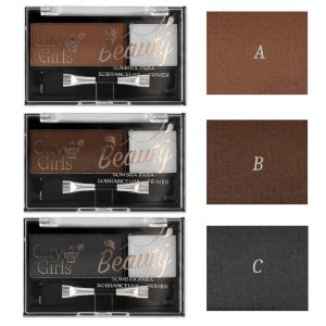 Kit para Sobrancelhas, Sombras, Fixador e Pincel City Girl CG143 - Display C/ 24 unid