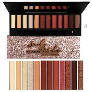 Paleta de Sombras de Luxo Smokey nude SP Colors SP131 - Cor A