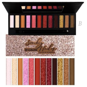Paleta de Sombras de Luxo Smokey nude SP Colors SP131 - Cor B