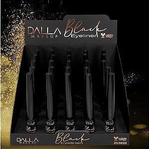 Novo Delineador Liquido Dalla Vegano Black DL0832 - Display C/ 25 Unid