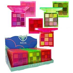 Paleta de Sombras Neon Jasmyne JS06052 - Display C/ 24 Unid