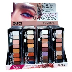 Paleta de Sombras Miss France MF8585 - Kit C/ 4 Unid