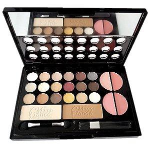 Kit de Maquiagem 18 Sombras, 4 Blush, 2 Pó Miss France MF7199 ( Cor 01 )