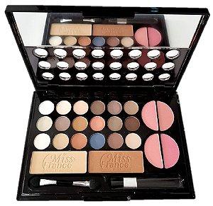 Kit de Maquiagem 18 Sombras, 4 Blush, 2 Pó Miss France MF7199 ( Cor 03 )