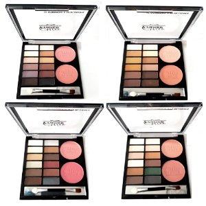 Kit de Maquiagem Miss France 12 Sombras e 2 Blush MF7106 ( 01,02,03,04)- Kit C/ 12 Unid