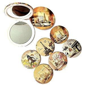 Espelho Duplo com Aumento - Kit C/6 Unid