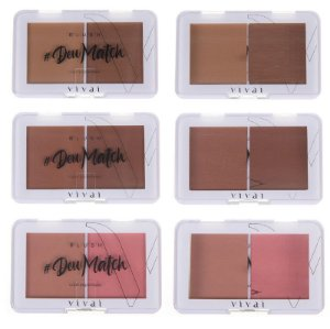 Blush Duo Deu Match Vivai 1019 - Kit C/3 Unid