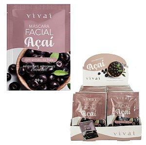 Mascara Facial Açaí Antioxidante, Revigorante e Hidratante Vivai 5038 - Display C/48 unid