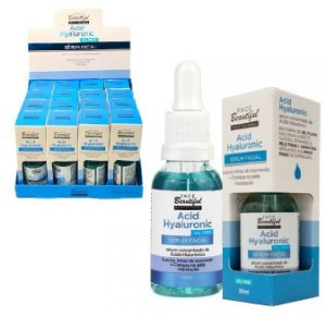 Sérum Facial Acid Hyaluronic Face Beautiful - Display C/ 16 Unid