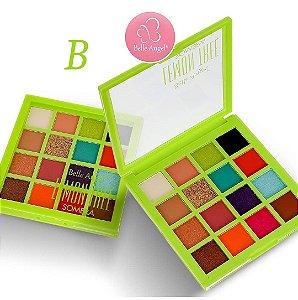 Paleta de Sombras Alta Pigmentação 16 Cores Belle Angel B087 - Cor B
