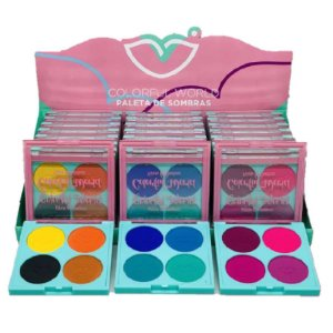 Paleta de Sombras Colorfull World Jasmyne JS01051 - Display C/24 Unid