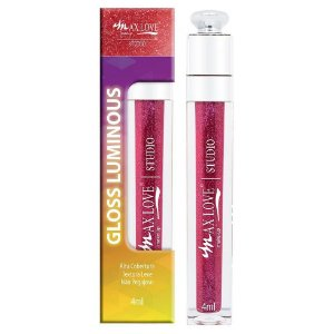 Gloss Vegano Luminous Max Love Cor 52 - Display C/ 32 Unid e Prov