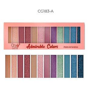 City Girls - Paleta de Sombras 12 Cores Adorable Colors CG183 - Cor A