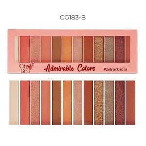 Paleta de Sombras 12 Cores Adorable Colors CG183 - Cor B