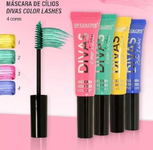 SP Color - Rimel Mascara de Cilios Coloridas Divas SP176 - Kit C/ 4 Unid