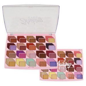 Paleta de Sombras 40 cores Striking Jasmyne JS07015 - Display C/ 12 uni