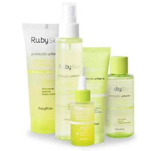 Kit Ruby Rose Skin Care Proteção Urbana Facial 20 Itens - 4Kits  ( HB326, HB331, HB407, HB415, HB336 ) - 4 Kits