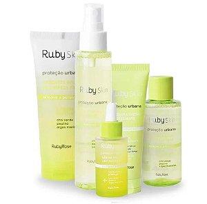 Kit Ruby Rose Skin Care Proteção Urbana Facial 5 Itens - 1 de cada ( HB326, HB331, HB407, HB415, HB336 )