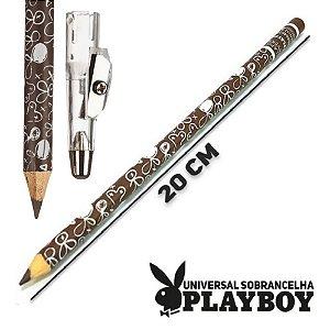 Lapis Marrom para Sobrancelhas com Apontador Playboy HB94739 - Kit C/ 12 Unid