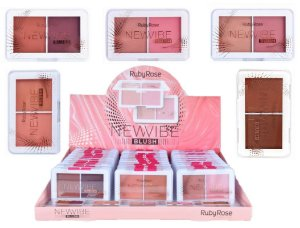 Blush Duo New Vibe Ruby Rose HB6114 - Display C/ 36 Unid e Prov