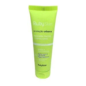 Máscara Facial Esfoliante Proteção Urbana Skin Care Ruby Rose  HB407