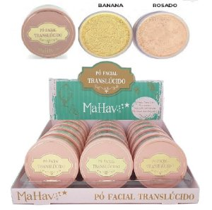 Display Pò Facial Translúcido Solto Mahav 2 Cores ( 18 Unidades )