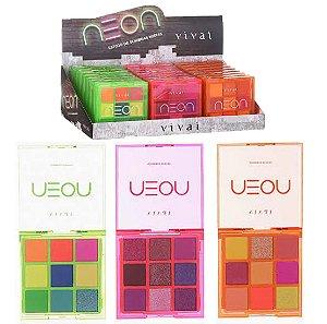 Paleta de Sombras Neon Vivai 4035 - Display C/ 24 Unid